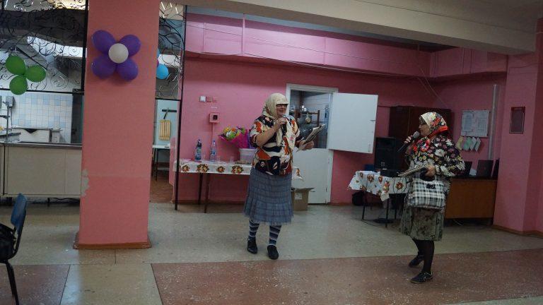 Праздничный банкет - «Новые русские бабки» преподаватели ОМК