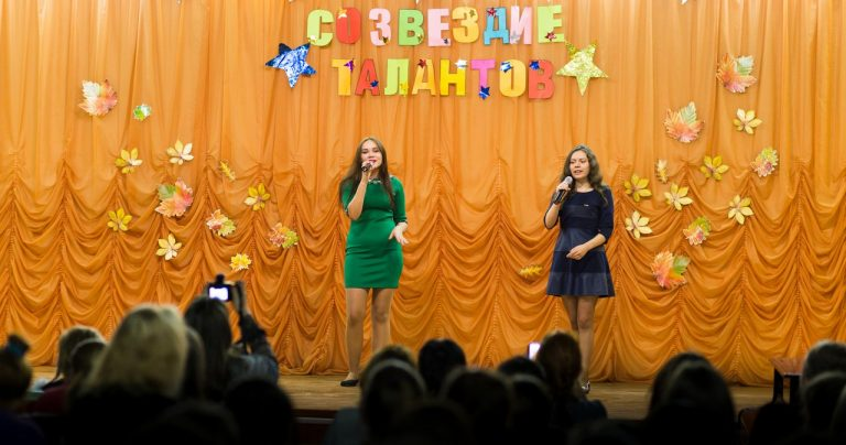 Песня «Осенний блюз», исполняют Анучина Александра, Славнова Светлана 1 «до1»